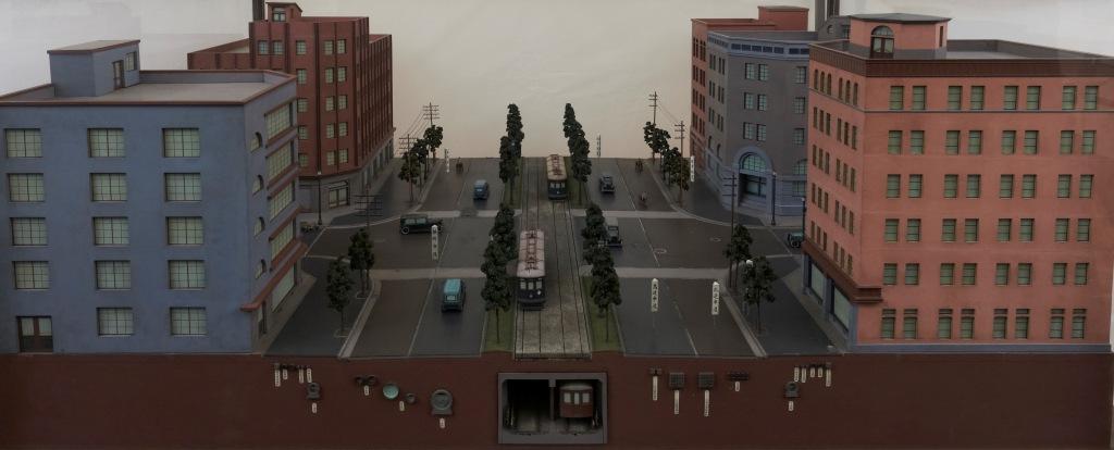 帝都復興展覧会出品模型 第一号幹線昭和通の一部模型