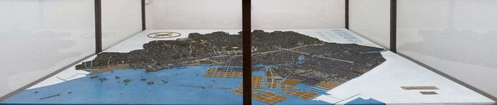 帝都復興展覧会出品模型 東京市五千分の一模型<br /> (焼失した都心部)