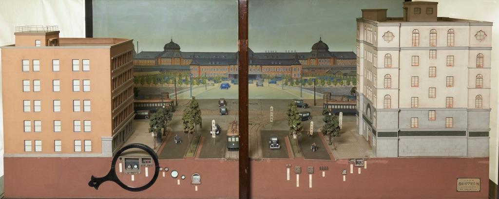 帝都復興展覧会出品模型 第七号幹線八重洲橋付近<br /> (東京駅前)